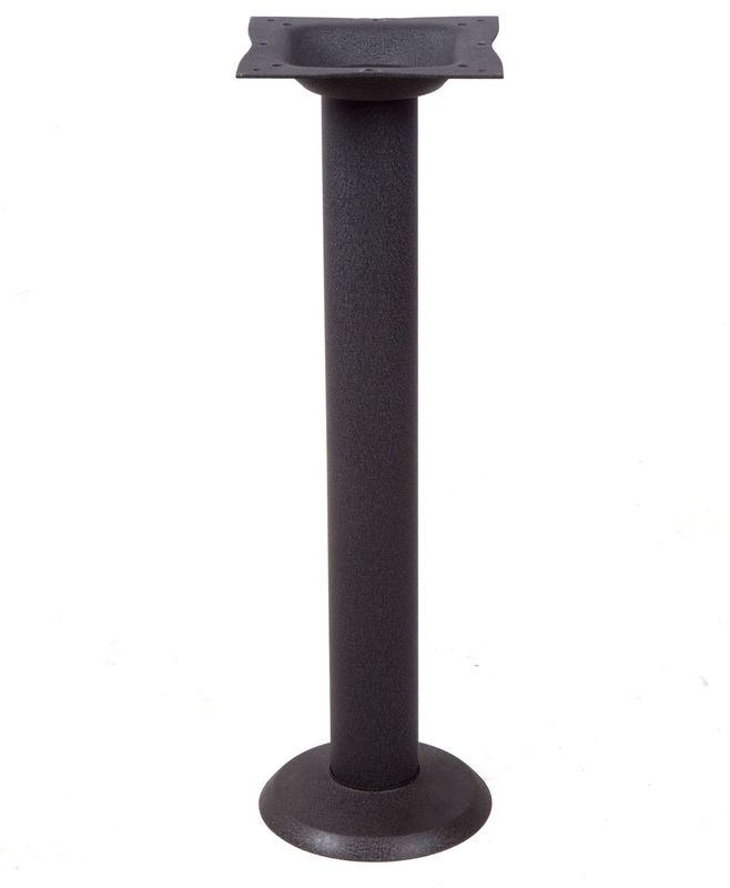 Cast Iron Bolt Down Table Base , Powder Coated Steel Table Legs For Coffee Shop