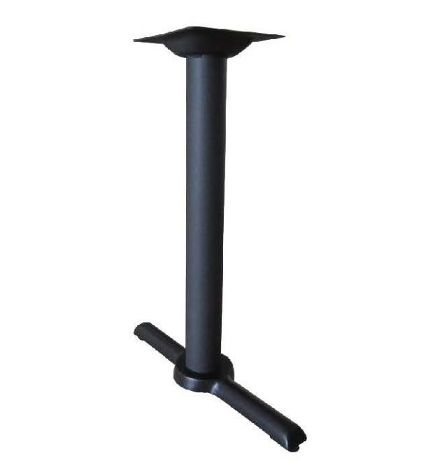 Black Wrinkle Powder Coated Cast Iron  Bistro Cross Table Base Outdoor Dia 3'' Column