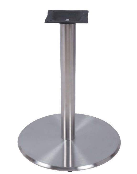 Round Stainless Steel Table Legs Height 28'' Hospitality Furniture outdoor Table